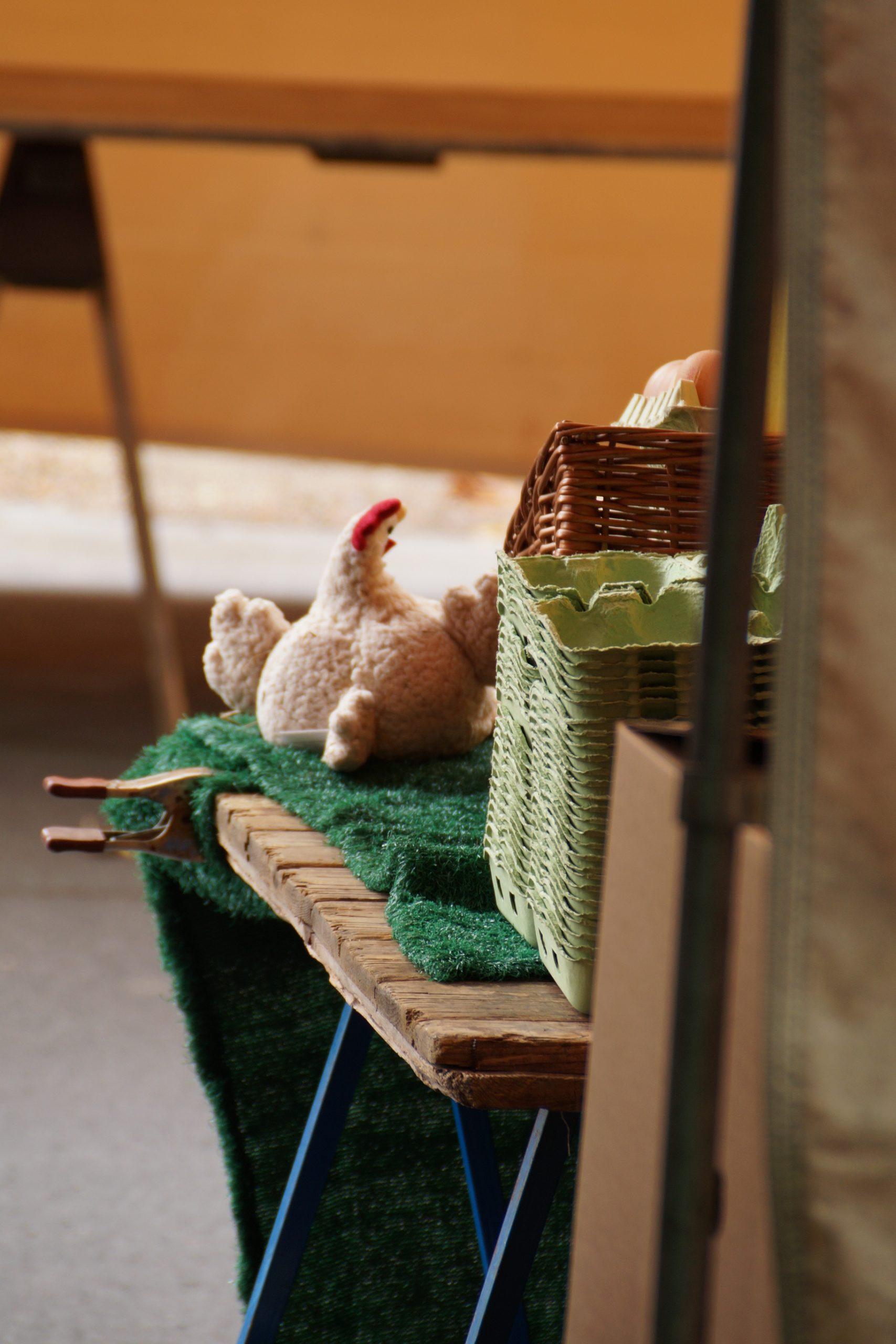 Soft toy, hen, Berlin