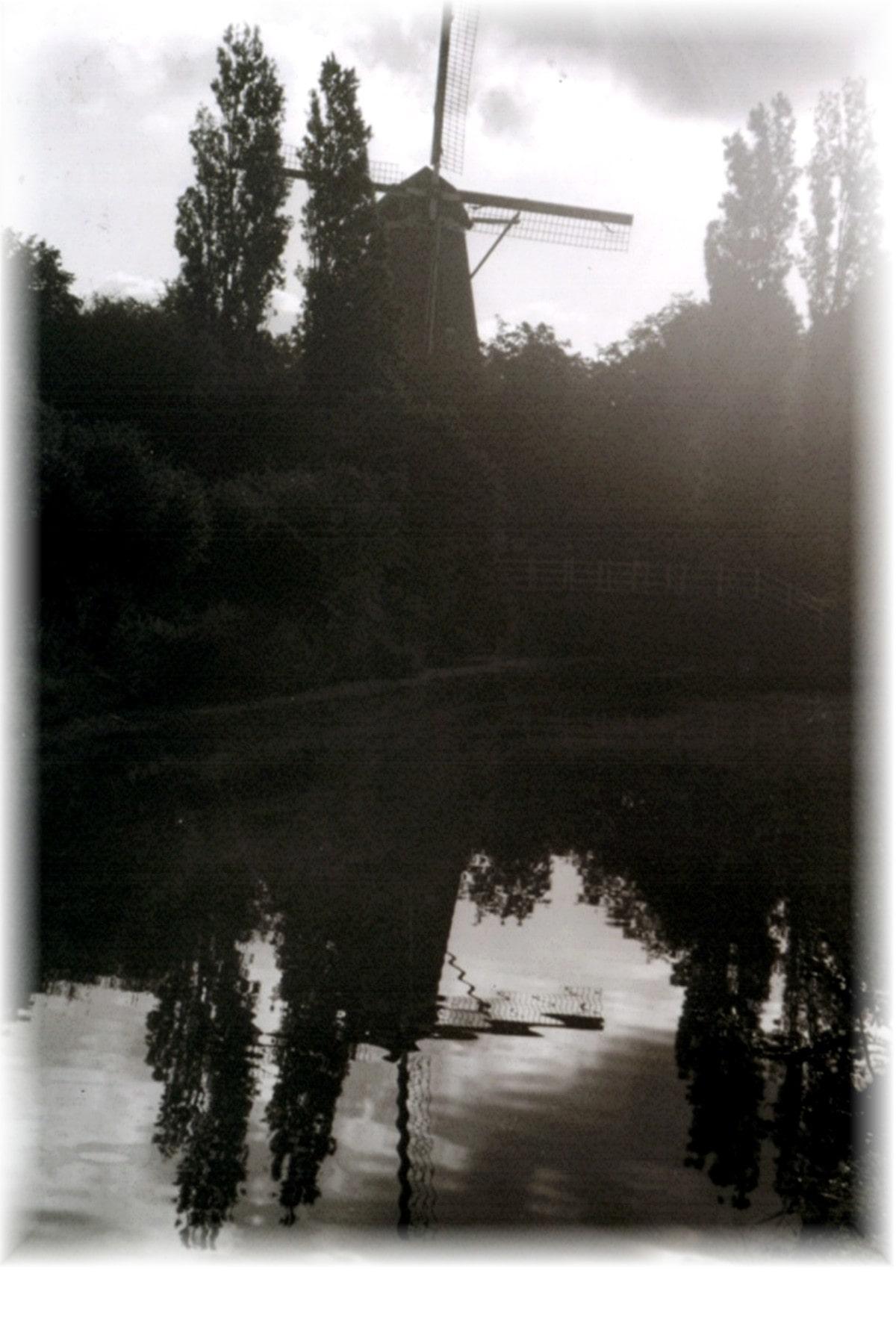 Netherlands, wind mill, reflection, lake